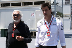 Flavio Briatore y Toto Wolff, Mercedes AMG F1