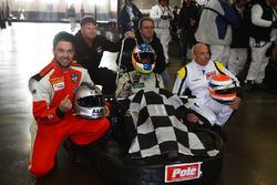 Race winners, Xavier Coupal, Marc-Antoine Cardin, René Fagnan, Nissan Micra Cup Team