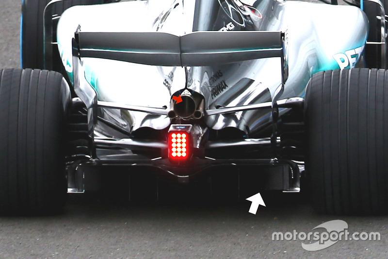 Mercedes AMG F1 W08 difüzör detay