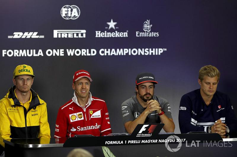 Ніко Хюлькенберг, Renault Sport F1 Team RS17, Себастьян Феттель, Ferrari, Фернандо Алонсо, McLaren, Маркус Ерікссон, Sauber