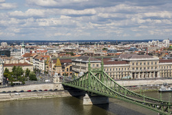 A view of Liberty Bridge and the Danube River