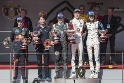 Podium: race winner Will Palmer, R-ace GP, second place Sacha Fenestraz, Josef Kaufmann Racing, third place Max Defourny, R-ace GP