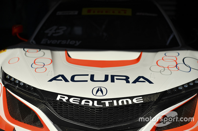 Coche de #43 RealTime Racing Acura NSX GT3: Ryan Eversley