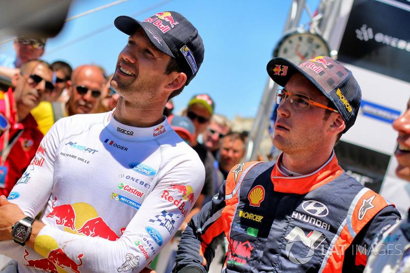Sébastien Ogier, M-Sport, Ford Fiesta WRC and Thierry Neuville, Hyundai Motorsport, Hyundai i20 Coupe WRC