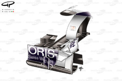 Williams FW33 front wing endplate