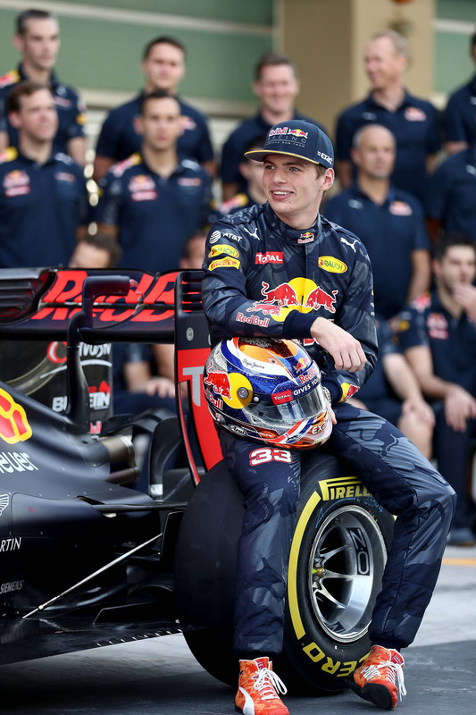 Max Verstappen, Red Bull Racing lors d'une photo d'équipe