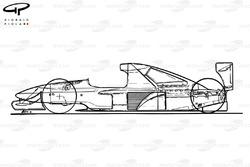 Brabham BT60Y 1991 schematic sideview