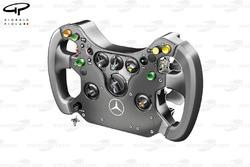 McLaren MP4-24 2009 steering wheel