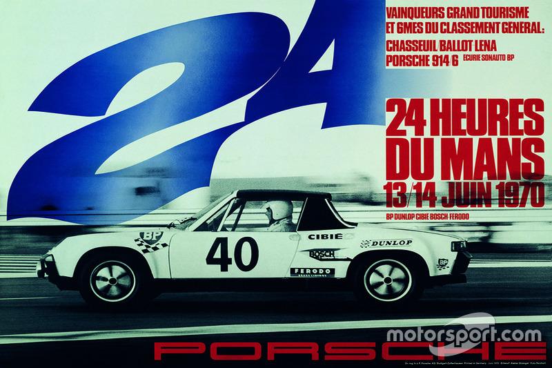 Poster Porsche 24h de Le Mans 1970