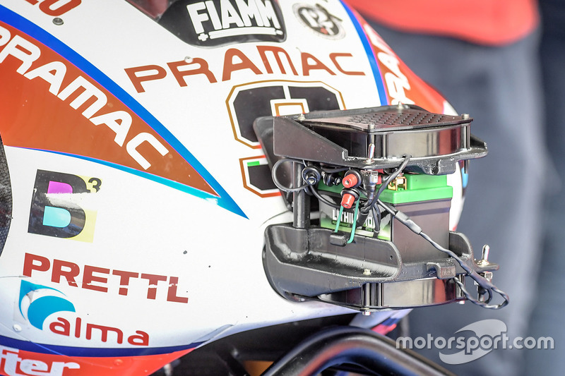 Détail de la moto de Danilo Petrucci, Pramac Racing