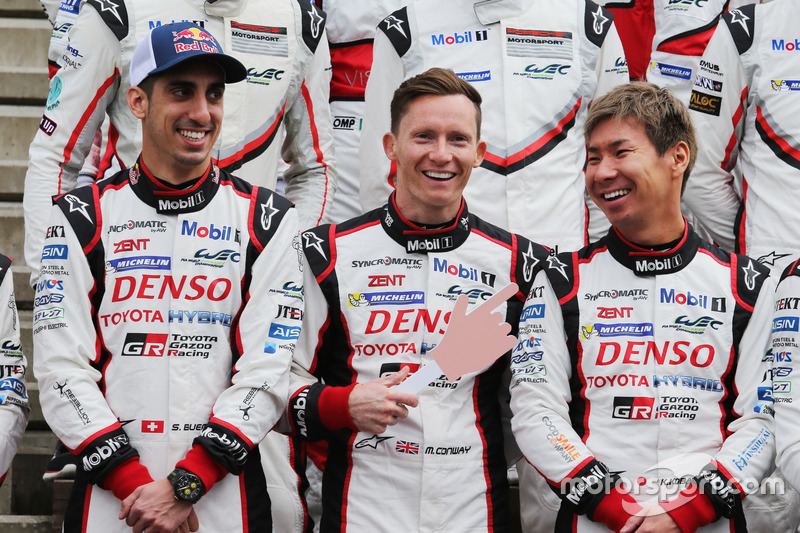 Sebastien Buem, Mike Conway and Kamui Kobayashi, TOYOTA GAZOO Racing
