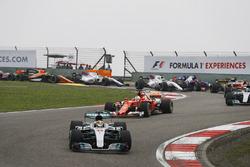 Льюіс Хемілтон, Mercedes AMG F1 W08, Себастьян Феттель, Ferrari SF70H, Валттері Боттас, Mercedes AMG F1 W08