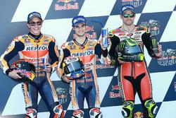 Le poleman Dani Pedrosa, Repsol Honda Team, le deuxième, Marc Marquez, Repsol Honda Team, le troisième, Cal Crutchlow, Team LCR Honda