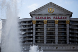 Fountains in front of Caesars Palace Las Vegas
