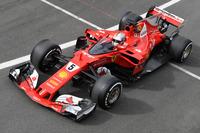 Sebastian Vettel, Ferrari SF70H and cockpit shield