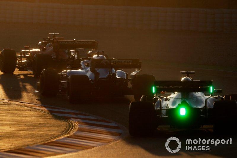 Alex Albon, Scuderia Toro Rosso STR14, George Russell, Williams FW42 et Sebastian Vettel, Ferrari SF90