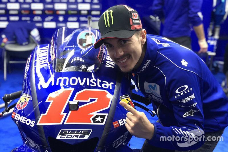 Maverick Viñales, Yamaha Factory Racing, mit neuer Startnummer 12