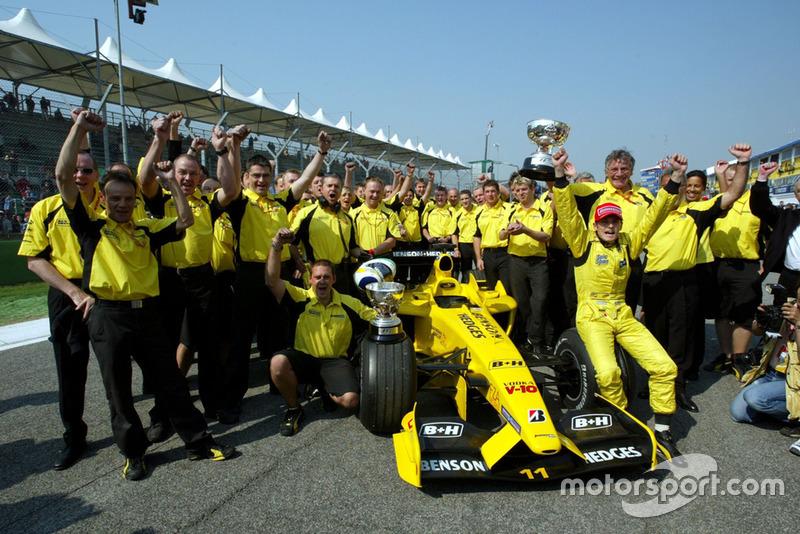 2003: Última victoria de Jordan en F1