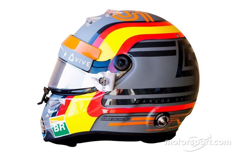 El casco de Carlos Sainz en su debut con McLaren F1