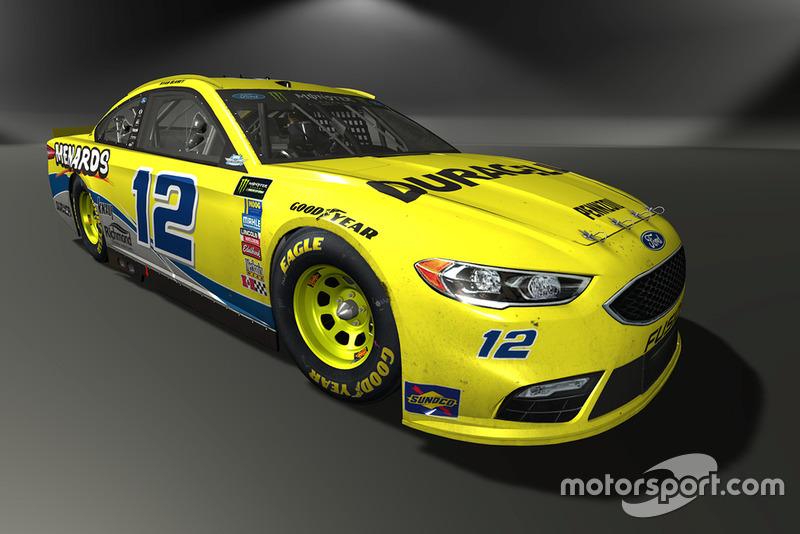Ryan Blaney, Team Penske, Ford Fusion - NASCAR Heat 3 skin