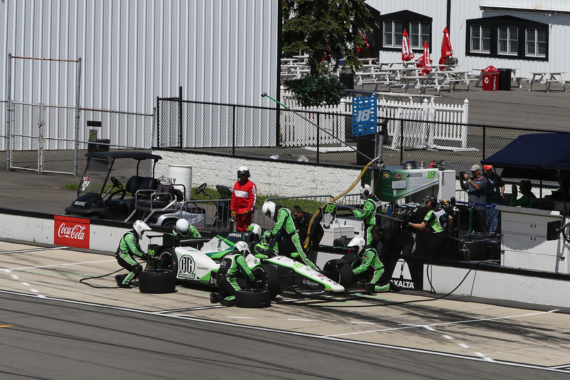 Conor Daly, Dale Coyne Racing Honda, pit stop