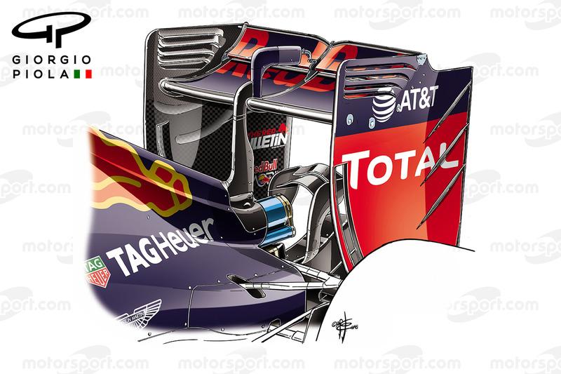 Red Bull RB12: Heckflügel, GP Ungarn