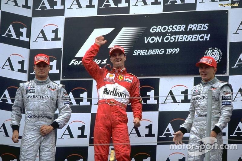 1999: 1. Eddie Irvine, 2. David Coulthard 3. Mika Hakkinen