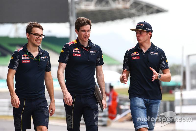 Max Verstappen, Red Bull Racing bei der Streckenbegehung