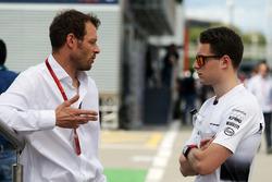(L to R): Alex Wurz, Williams Driver Mentor / GPDA Chairman with Stoffel Vandoorne, McLaren Test and Reserve Driver