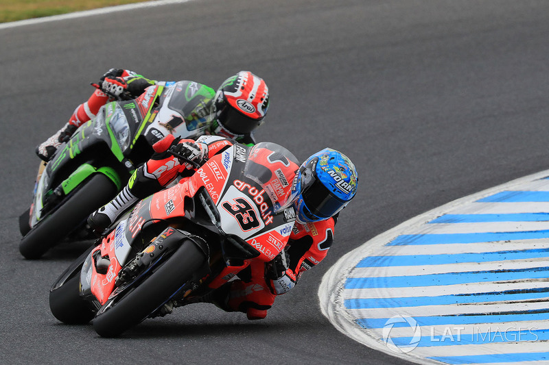 Marco Melandri, Aruba.it Racing-Ducati SBK Team dan Jonathan Rea, Kawasaki Racing Team