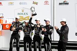 Victory lane, Winner GTD: #11 GRT Grasser Racing Team Lamborghini Huracan GT3: Rolf Ineichen, Mirko Bortolotti, Franck Perera, Rik Breukers