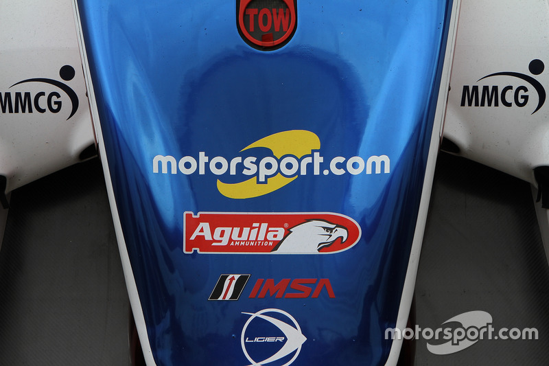 Motorsport.com logo on the #32 United Autosports Ligier LMP2: Will Owen, Hugo de Sadeleer, Paul Di Resta, Bruno Senna