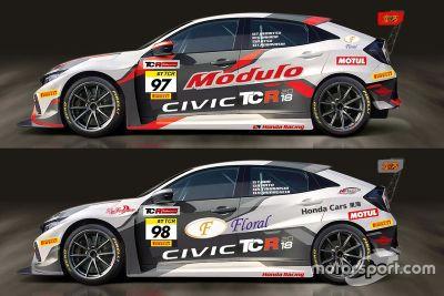 Le nuove Honda Civic TCR del Team DOME