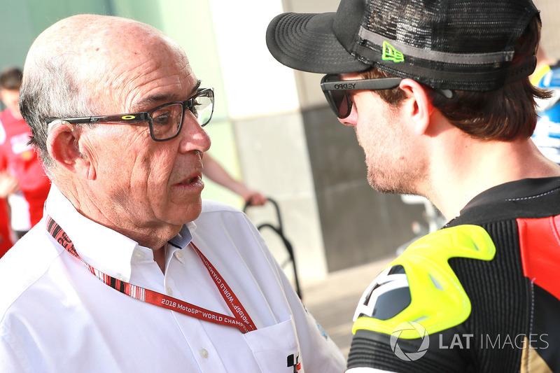 Carmelo Ezpeleta, CEO Dorna Sports, Cal Crutchlow, Team LCR Honda