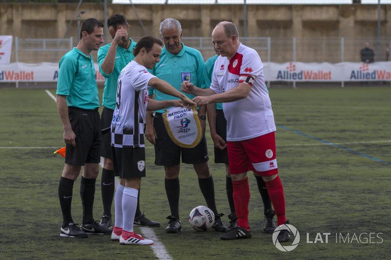 Felipe Massa y el Príncipe Alberto de Mónaco