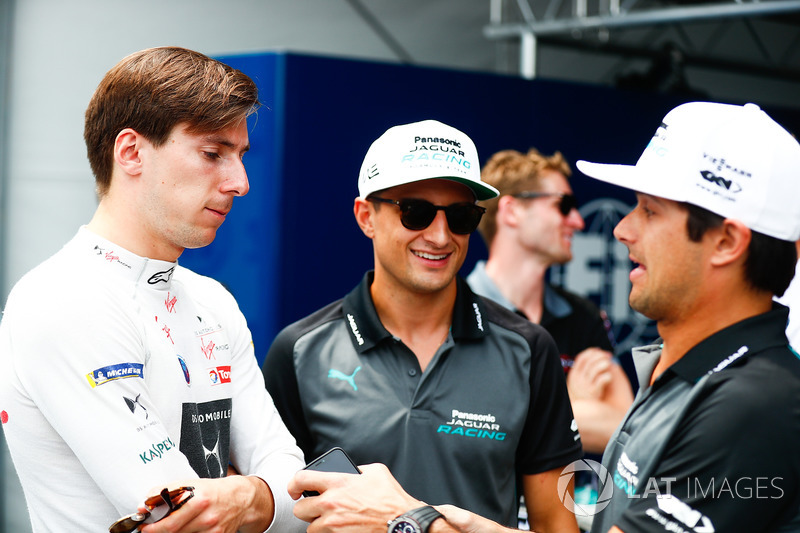 Alex Lynn, DS Virgin Racing, Mitch Evans, Jaguar Racing, Nelson Piquet Jr., Jaguar Racing