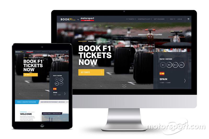 Reserva de entradas de la F1
