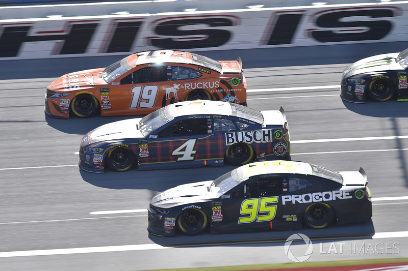 Daniel Suarez, Joe Gibbs Racing, Toyota Camry ARRIS, Kevin Harvick, Stewart-Haas Racing, Ford Fusion Busch Beer Flannel, Kasey Kahne, Leavine Family Racing, Chevrolet Camaro Procore Safety Certified