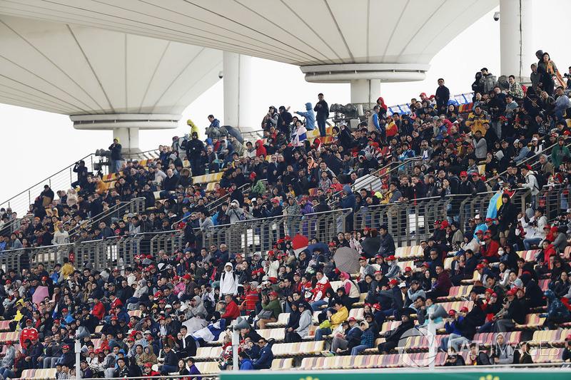Spectators in a grandstand