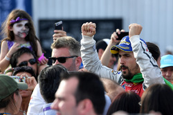 Lucas di Grassi, Audi Sport ABT Schaeffler, celebrates on the podium