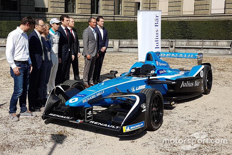 Corine Mauch, Présidente de la Ville de Zurich, Lino Guzzella, Président ETH Zurich, Alberto Longo, Cofondateur et co-fondateur et chef de championnat, Formula E Holdings, Gian Rossi, Leiter Region Schweiz, Julius Bär