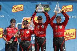 #99 JDC/Miller Motorsports ORECA 07, P: Stephen Simpson, Mikhail Goikhberg, Chris Miller, podium, John Church