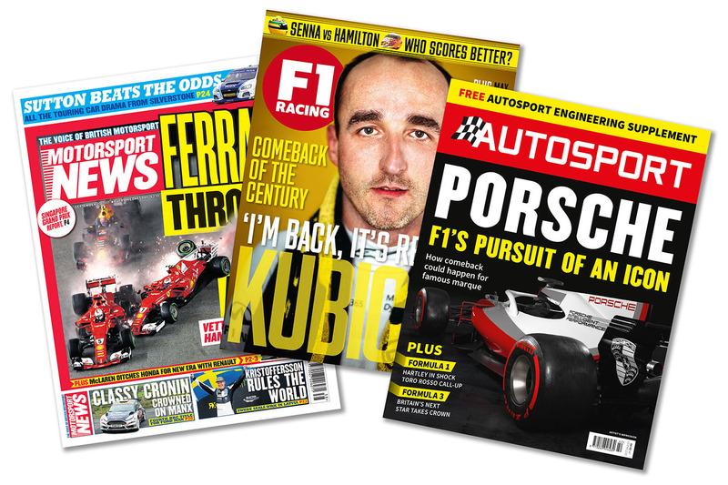 Basılı yayınlar: Motorsport News, F1 Racing, Autosport