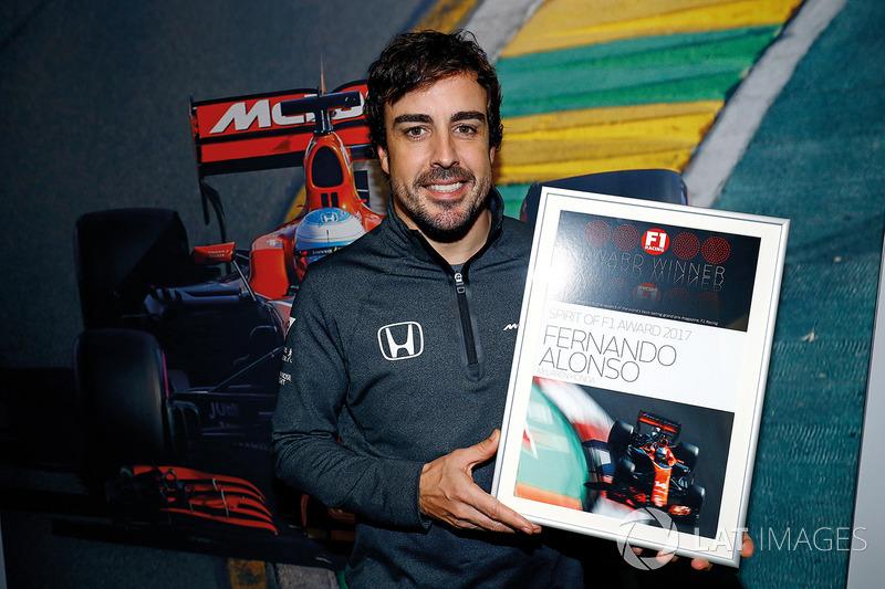 Fernando Alonso, McLaren, Spirit of F1 Award 2017