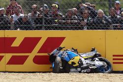 La moto di Jack Miller, Estrella Galicia 0,0 Marc VDS dopo la caduta