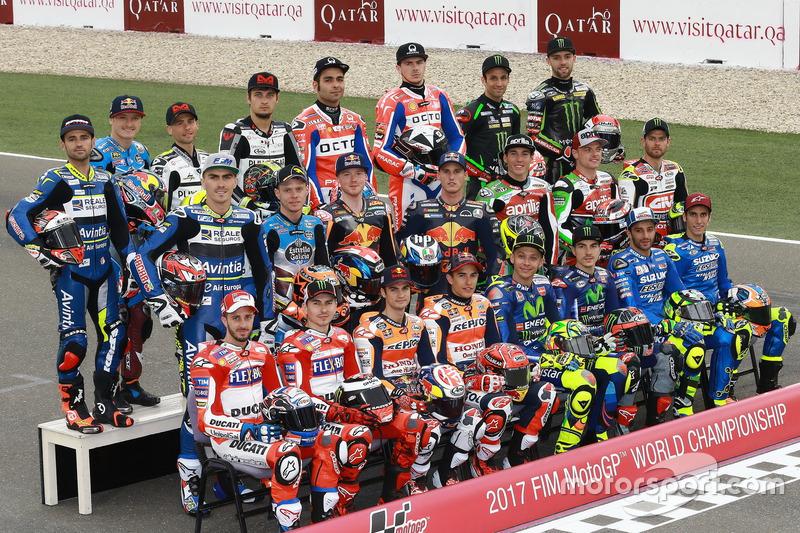 MotoGP line up pilotos