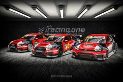Le Audi e la Volkswagen del Racing One Team