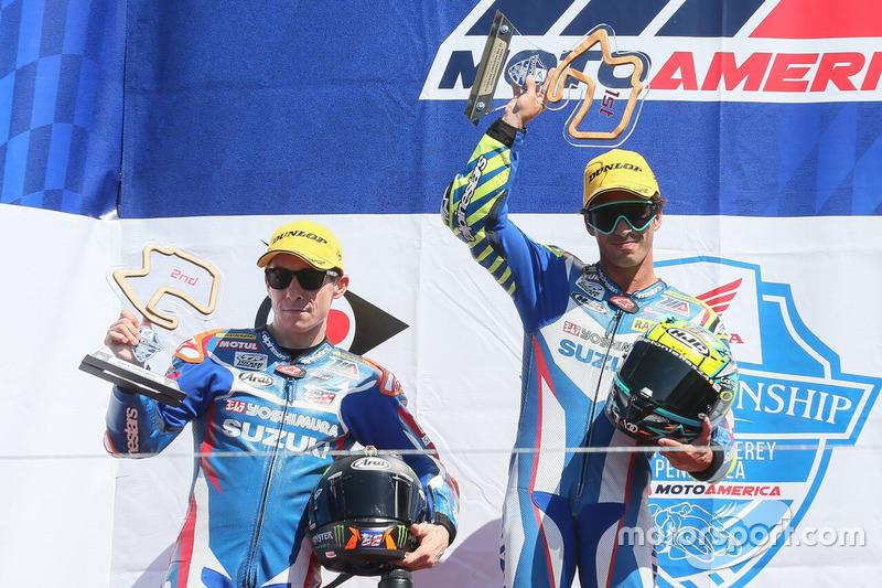 Toni Elías, equipo Suzuki, podio Laguna Seca