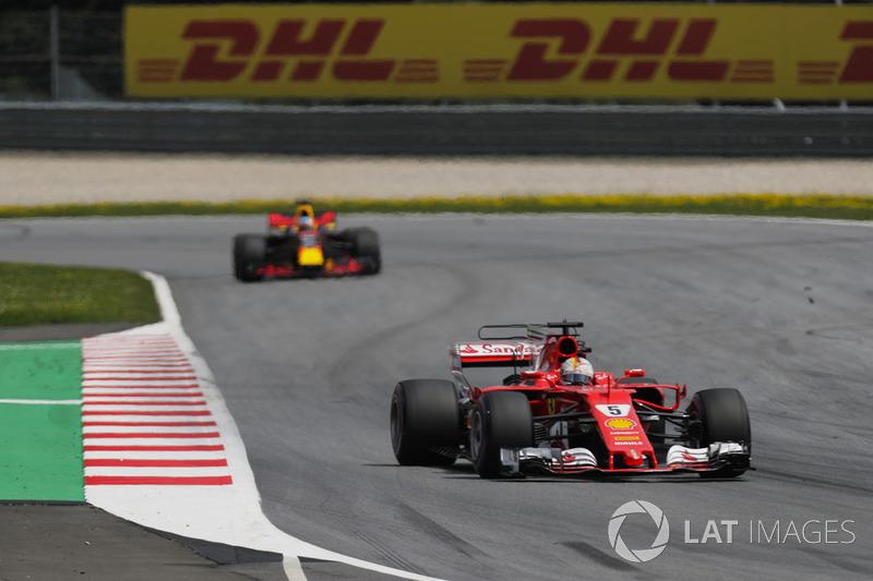 Себастьян Феттель, Ferrari SF70H, Даніель Ріккардо, Red Bull Racing RB13
