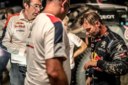 Sébastien Loeb, Peugeot Sport, mit Bruno Famin, Peugeot-Sportchef